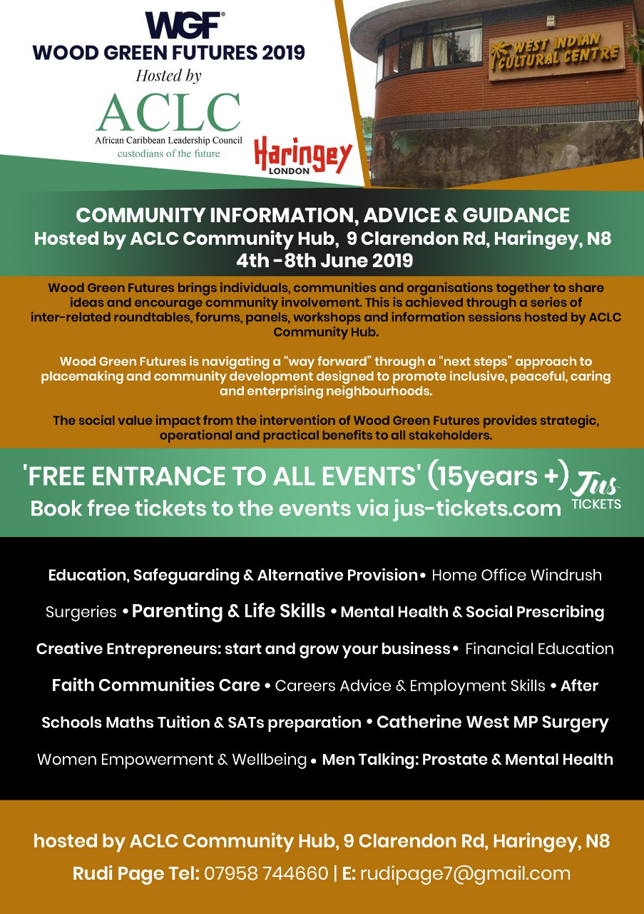 WOOD GREEN FUTURES ACLC COMMUNITY HUB 4-8 JUNE 2019